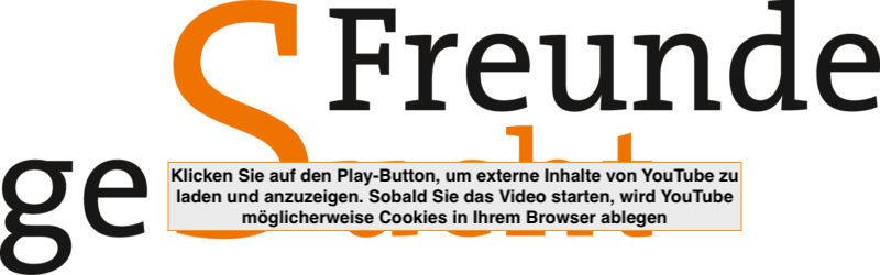 Klicken Sie auf den Play-Button, um externe Inhalte von You Tube zu laden und anzuzeigen. Sobald Sie das Video starten, wird You Tube möglicherweise Cookies in Ihrem Browser ablegen